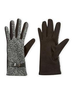 Belted Shimmer Knit Gloves - 3121067442730