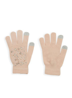 Faux Pearl Studded Gloves - BLUSH - 3121067444272