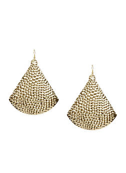 Hammered Triangle French Wire Earrings - 3122003200234