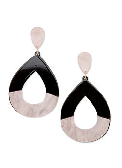 Teardrop Cut Out Earrings - 3122003200236