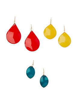 Teardrop Earrings Trio - 3122003200242