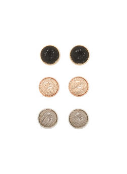 Set of 3 Disc Earrings - 3122035150599
