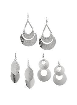 Dangling Metallic Earrings Set - 3122035151778