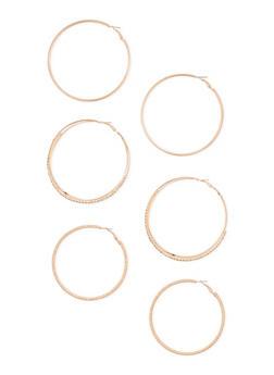 3 Piece Hoop Earrings Set - 3122035151945