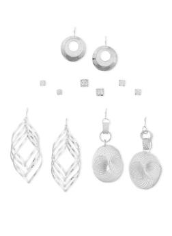 Set of 6 Assorted Dangling and Stud Earrings - 3122035153243