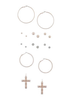 Set of 9 Assorted Earrings - 3122035157301