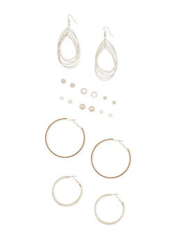 9 Piece Assorted Earring Set - 3122035157395
