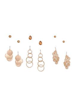 6 Piece Assorted Earrings - 3122035159218