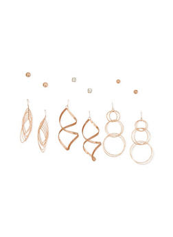 6 Piece Earrings Set - 3122035159240