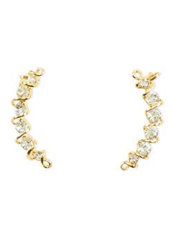 Rhinestone Ear Cuffs - 3122057691464