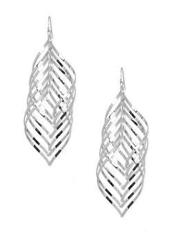 Metallic Swirl Earrings - 3122062816134
