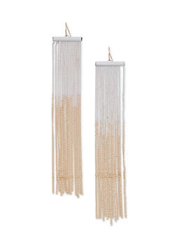 Chain Fringe French Wire Earrings - 3122062921853