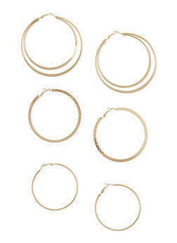 Hoop Earrings Trio - 3122062925157