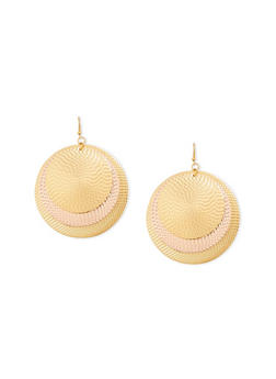 Textured Disc Earrings - 3122062927408
