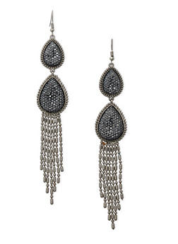 Tear Drop Fringe Fish Hook Earrings - 3122071432101