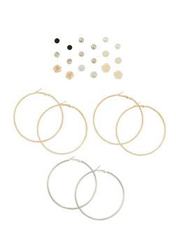 12 Piece Assorted Earrings Set - 3122072371061