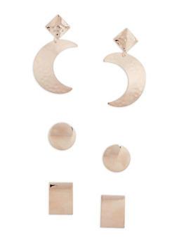 Geometric Earrings Set of 3 - 3122074171710