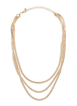 3 Row Flat Necklace - 3123003201122