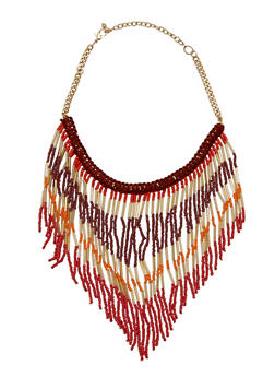Beaded Crochet Necklace - 3123018433870