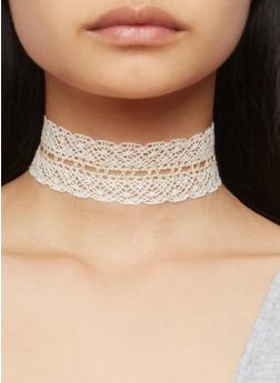 3 Piece Crochet Choker Set - 3123018434120