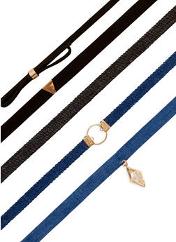 Assorted 5 Piece Choker Set - 3123018437179