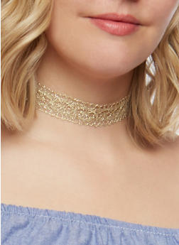 Set of 3 Bead Lace and Crochet Chokers - 3123035155283