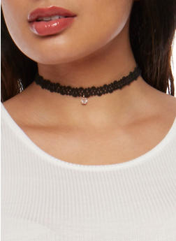 Tattoo Choker Trio with Charms - 3123035158886