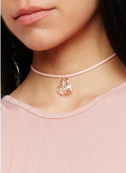 Assorted Tattoo and Heart Charm Choker Trio - 3123057691008