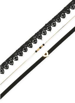 Set of 8 Assorted Choker and Stud Earrings - 3123057697164