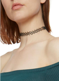 Set of 5 Tattoo Chokers - 3123058569472