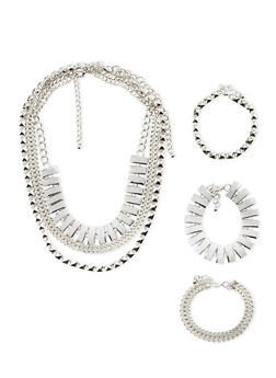 Set of 6 Assorted Necklaces and Bracelets - 3123059630433