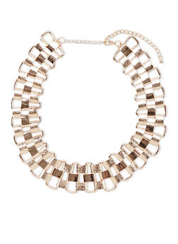 Chunky Chain Link Collar Necklace - 3123059635078