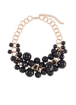 Loop Chain Bubble Necklace - 3123059635436