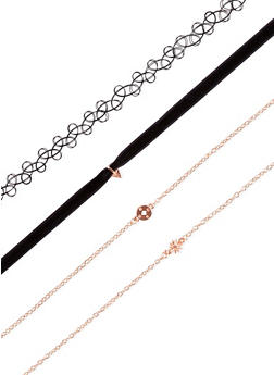 Set of 4 Assorted Chokers - 3123062920072