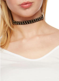 Set of 6 Assorted Choker Necklaces and Stud Earrings - 3123062921100