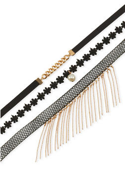 Choker Trio with Chain Accent - 3123062921448