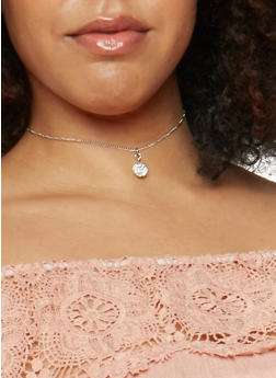 Set of 3 Rhinestone and Ball Charm Necklaces - 3123062923498