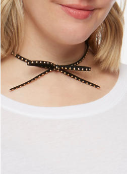 Oval Lace and Studded Choker Set - 3123062926058