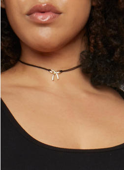 Set of 8 Tie Chokers and Assorted Stud Earrings - 3123062928604
