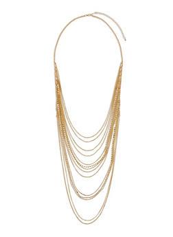 Multi Layered Rhinestone Chain Necklace - 3123062929623