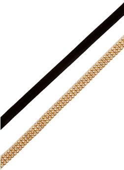 Double Choker Necklace Set - 3123063090104