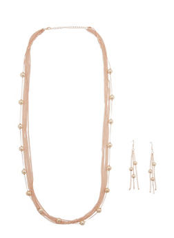 Long Multi Chain Necklace and Earrings Set - 3123072372206