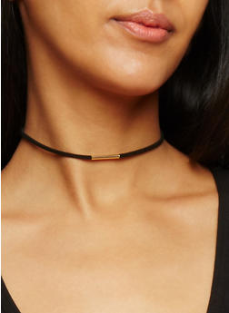 Set of 6 Assorted Velvet and Crochet Chokers - 3123072696695