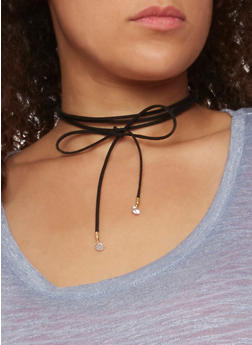 Wrap Choker and Earring Set - 3123072696952