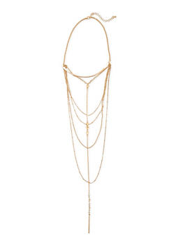 Multi Row Drop Necklace - 3123073804390