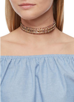 5 Row Beaded Choker - 3123073804767