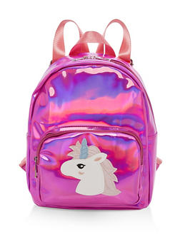 Unicorn Graphic Holographic Backpack - 3124040321007