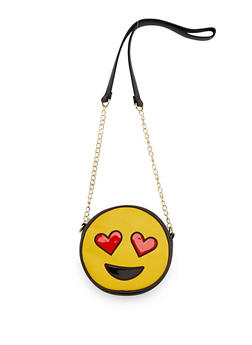 Heart Eyes Emoji Crossbody Bag - 3124040325222