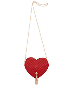 Mini Chevron Heart Crossbody Bag - 3124041654716
