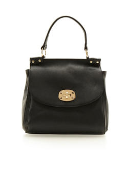 Large Satchel Bag in Faux Leather - 3124060147771